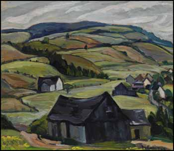 Hills, Back of Cap-à-l'Aigle, PQ by Nora Frances Elizabeth Collyer
