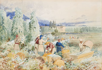 Harvesting Hops, BC by Frederic Marlett Bell-Smith