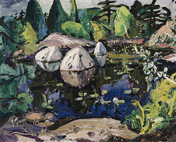 Blue Pool with Rocks by Arthur Lismer