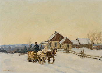 Winter Landscape at Ayer's Cliff, Quebec by Frederick Simpson Coburn