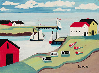 Harbour Scene by Maud Lewis