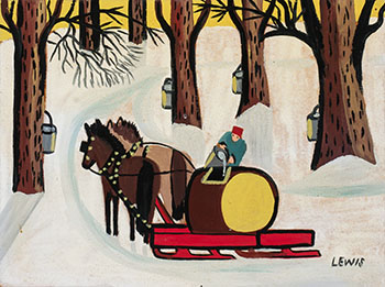 Collecting Maple Sugar by Maud Lewis