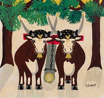 Two Oxen by Maud Lewis