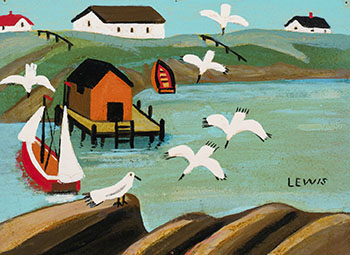 Dock Scene by Maud Lewis