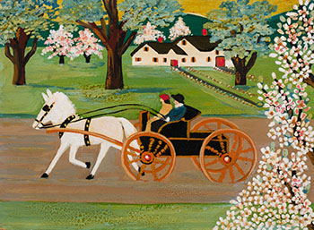 Horse-Drawn Carriage by Maud Lewis