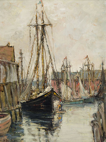 The Old Schooner by Berthe Des Clayes