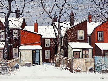 Back Yard on a Winter Day by John Kasyn