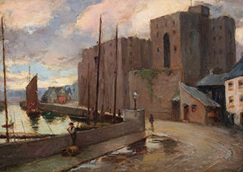 Harbour par John William (J.W.) Beatty