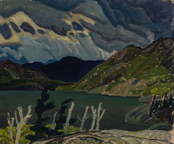 Storm Over Hills, Cranberry Lake par Franklin Carmichael