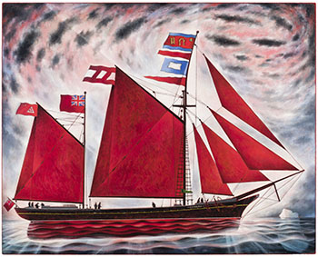 Barbour's 'Seabird' Leaving Newtown (Bonavista Bay) by David Lloyd Blackwood