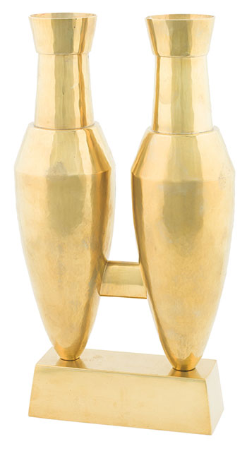 Sculptural Twin Vase by Per Sax Moller