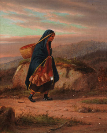 Moccasin Seller, Autumn par Cornelius David Krieghoff
