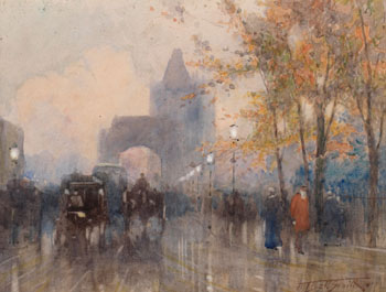 Near Tower Bridge par Frederic Marlett Bell-Smith