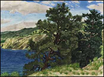 Above Okanagan Lake, Penticton by Edward John (E.J.) Hughes