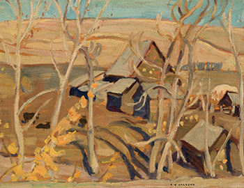 Farm at Pincher Creek, Alberta by Alexander Young (A.Y.) Jackson