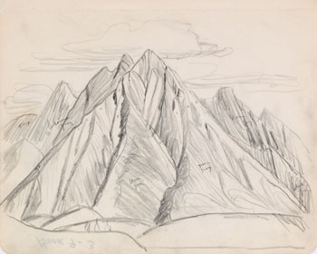 Mountain Study par Lawren Stewart Harris