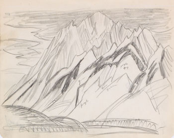 Study for Mountain Forms par Lawren Stewart Harris