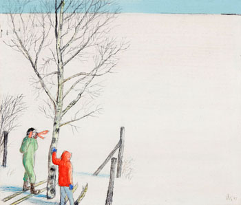 Next Shelter, Two Miles by William Kurelek