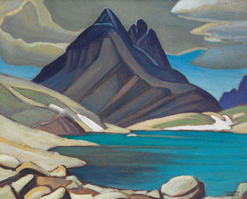 Mount Odaray from Lake McArthur / Rocky Mountain Sketch CXXV par Lawren Stewart Harris