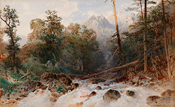 Mountains and Waterfall by Otto Reinhold Jacobi