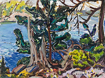 Shoreline, Georgian Bay / Pool in the Rocks (verso) by Arthur Lismer