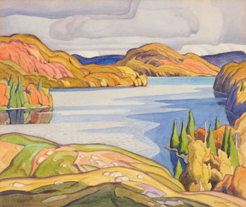 Soyers Lake, Haliburton by Alfred Joseph (A.J.) Casson
