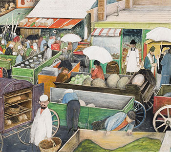 Old Dufferin Street Market, Winnipeg by William Kurelek