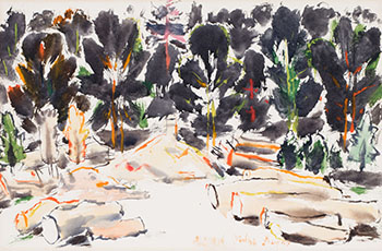 Elm Logs by David Brown Milne