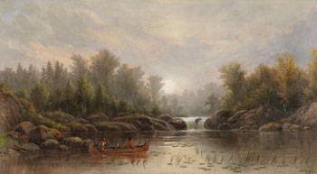 Ojibway in a Canoe by Frederick Arthur Verner
