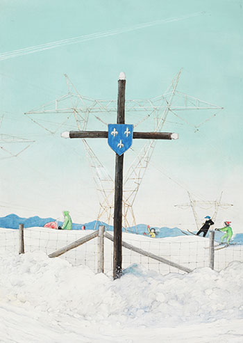 Satan's Web (Rural Quebec Today) by William Kurelek