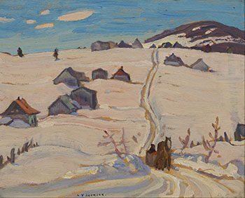 Winter Morning, Laurentians at St-Tite by Alexander Young (A.Y.) Jackson