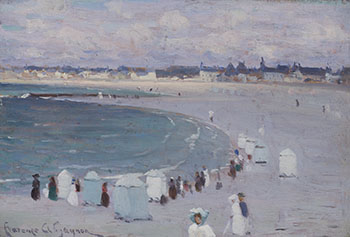 The Beach at Saint-Malo by Clarence Alphonse Gagnon
