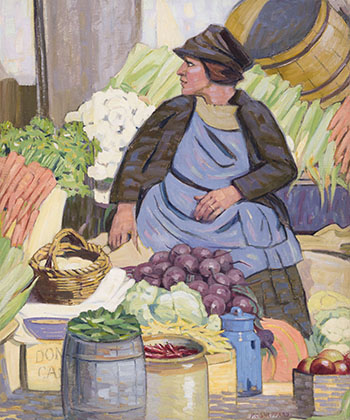 Market Stand Woman, Bonsecours Market by Peter Clapham Sheppard