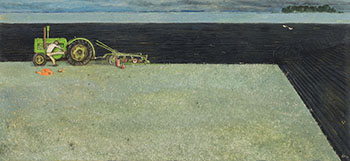 Starting Flywheel Tractor by William Kurelek