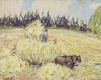 Haying, Combermere by Peter Clapham Sheppard