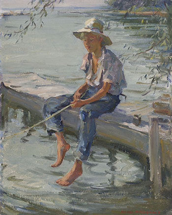 Boy Fishing by Manly Edward MacDonald
