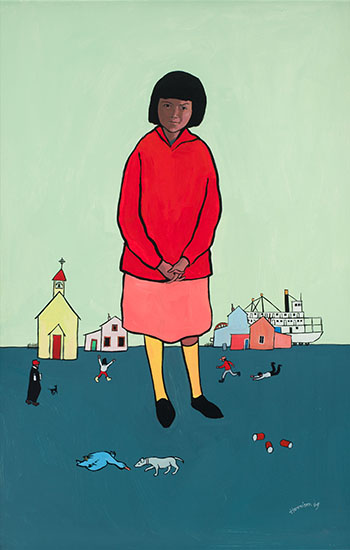 Virginia and the Blue Duck by Ted Harrison