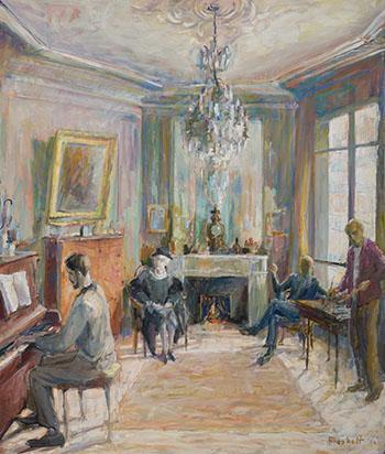 Interior with Figures by Joseph Francis (Joe) Plaskett