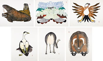 World Wildlife Foundation Inuit Print Collection, 1977 by Various Inuit Artists