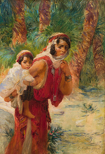 Algerian Mother and Child by Frederick Arthur Bridgman