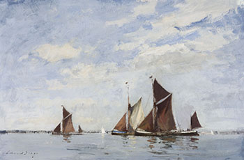 Thames Barges Racing on the Orwell par Edward Seago