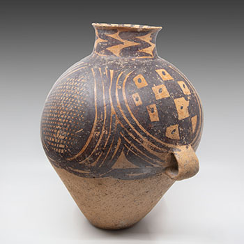 Chinese Earthernware Painted Jar, Majiayao Culture, Neolithic Period (3300-2000 BC) by  Chinese Art