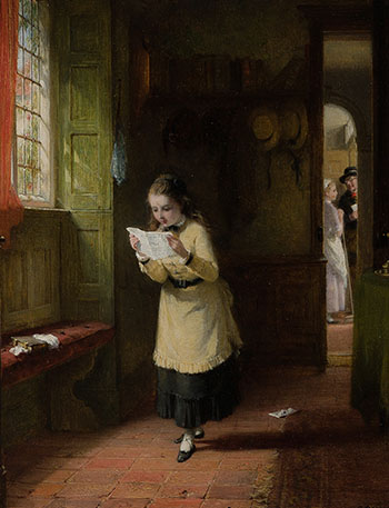 The Letter par George Bernard O'Neill