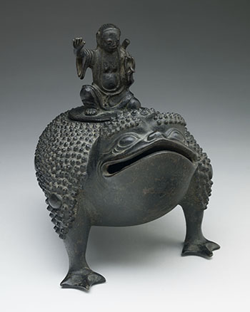Chinese Bronze Censer of Liu Hai and a Three-Legged Toad, Ming Dynasty, 16th/17th Century by  Chinese Art