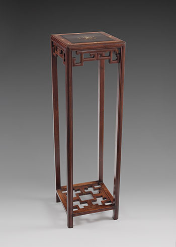 Chinese Rosewood and Mother-of-Pearl Inlay Plant Stand, Republican Period, circa 1925 by  Chinese Art