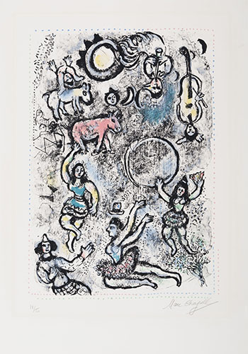 The Tumblers by Marc Chagall