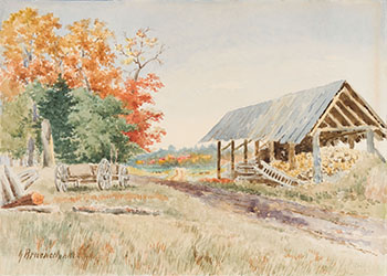 Farm Shed by George Robert Bruenech