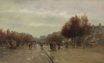 Street Scene, Paris by James MacDonald Barnsley