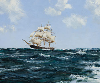 Rolling Seas, Clipper Ship Oracle par Montague J. Dawson