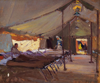 Interior of a Field Hospital Tent by John William (J.W.) Beatty
